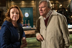 Melanie Hill and David Neilson on Coronation Street.