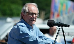 Ken Loach speaks at the Durham Miners' Gala, UK, on 8 July.