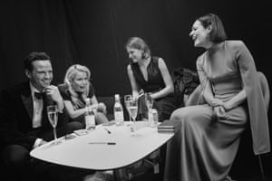 Andrew Scott from Fleabag, the singer Paloma Faith, and Emma Corrin, who is due to play Lady Diana in the Crown, with the Killing Eve writer, and writer and star of Fleabag, Phoebe Waller-Bridge