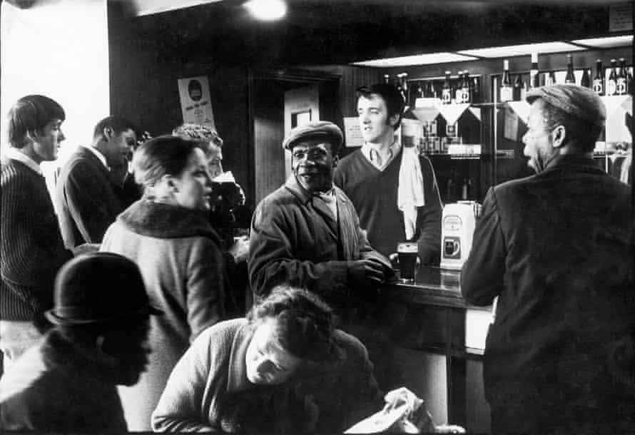 At the 'Piss House' pub on the Portobello Road, 1969.