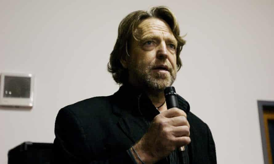 John Perry Barlow speaking in San Francisco in 2005.