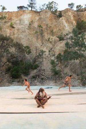 Jaydan Bush, Stephen Goldsmith, Dylan Miller in The Secret River