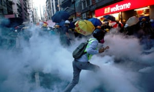 Demonstrators clash with police