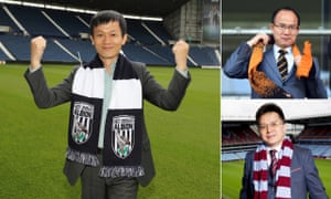 The new front men in the Midlands, clockwise from main picture: Guochuan Lai at West Brom; Guo Guangchang at Wolves and Tony Xia at Aston Villa