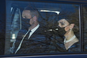 William and Kate in car
