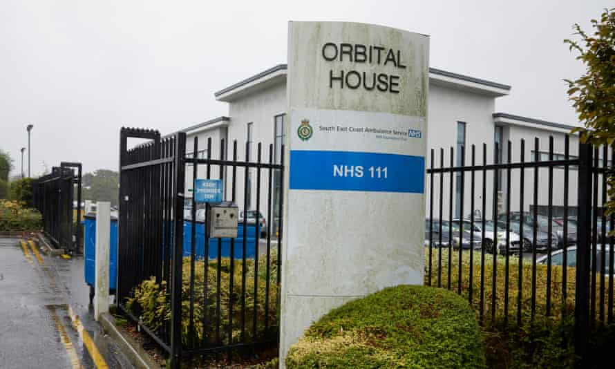 An NHS 111 call centre in Ashford, Kent.