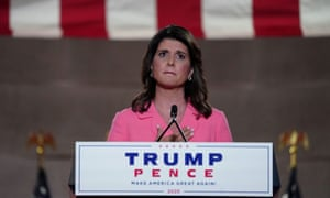'America is not a racist country,' Nikki Haley declared on the opening night of the convention.