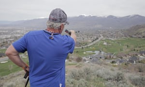 Don Peay looks out over Salt Lake City, Utah.