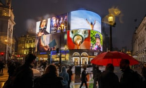Advertisement screens in Piccadilly Circus, London
