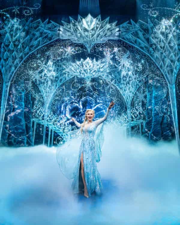 Dazzling coups de theatre … Samantha Barks as Elsa.