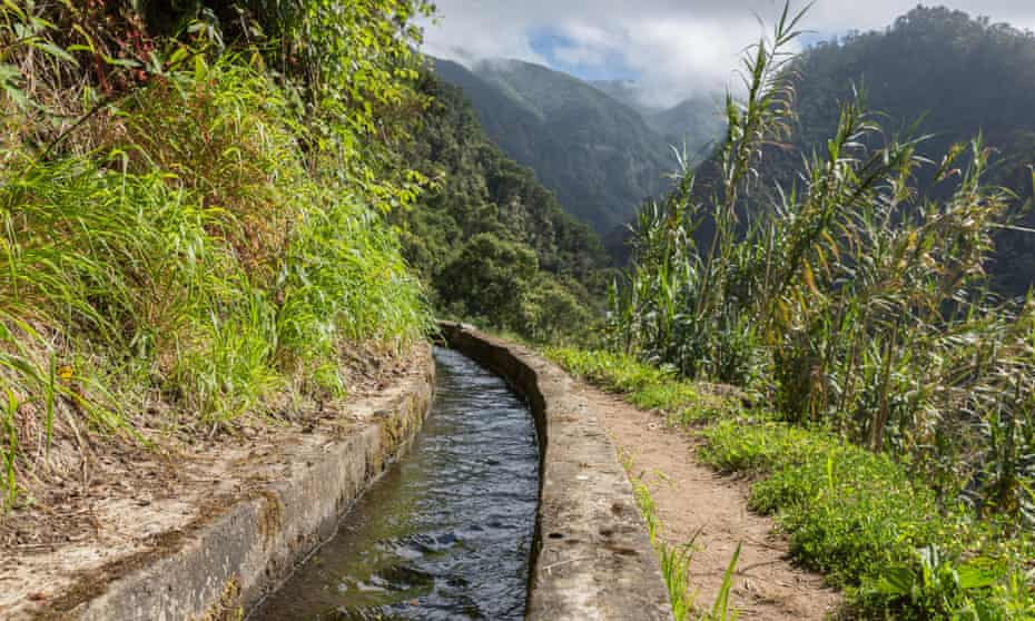 Madeira's hiking trails often follow irrigation canals.