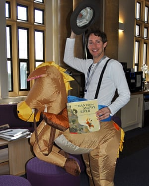 Kingham Hill School saddle up for World Book Day Our Maths teacher, Mr Marks takes World Book Day very seriously, no horsing around from him.