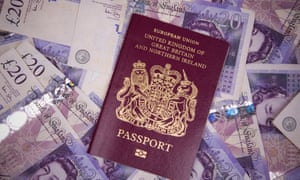 British passport and cash