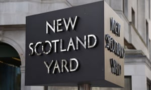 The New Scotland Yard sign.