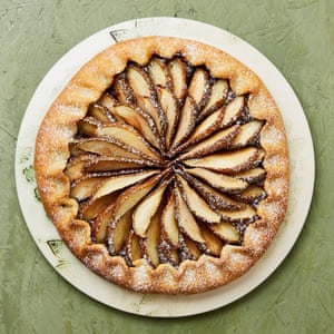 Meera Sodha's pear, chocolate and almond galette.