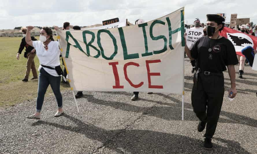 An Abolish Ice protest in Georgia in February.