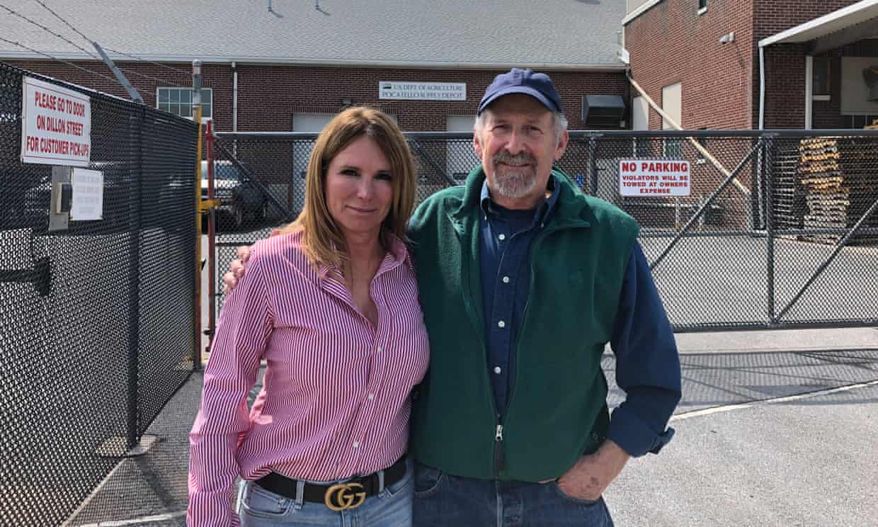 Fahy and Theresa Mansfield at the Pocatello Supply Depot.