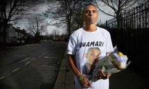 Paul Barnes, father of Quamari Serunkuma-Barnes, who was killed in London.