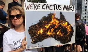 An environmental activist in Melbourne, Australia, on 20 September 2019