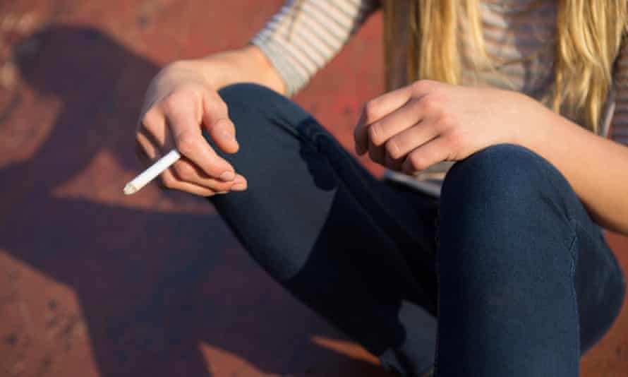 Young people are smoking to 'combat stress'.