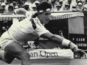 Pat Cash reaches for the ball