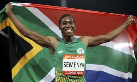 South African Olympic medallist Caster Semenya