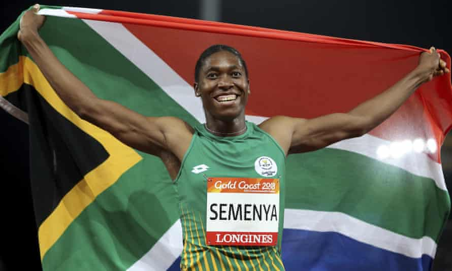 Caster Semenya celebrates winning 800m gold at the 2018 Commonwealth Games. She has dominated the event for much of the past decade.