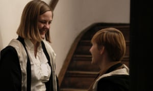 Character building: Katie Forster chats to a fellow initiate.
