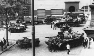 Tanks in Prague in 1968