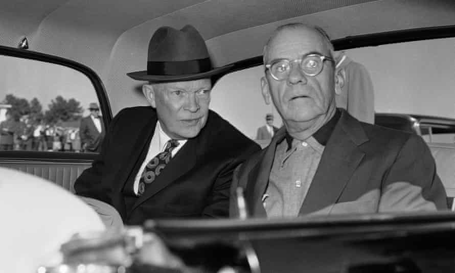 President Dwight Eisenhower with Clifford Roberts, chairman of the Augusta National board in 1959