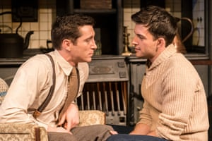 Ben Batt, left, and Jonathan Bailey in The York Realist at the Donmar Warehouse.