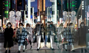 Shoppers in Tokyo's Ginza district.