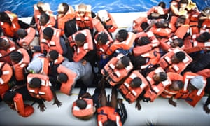 There were 140 people crammed onboard the inflatable, including 15 pregnant women – all made it off safely to the MSF mother ship, the Bourbon Argos.