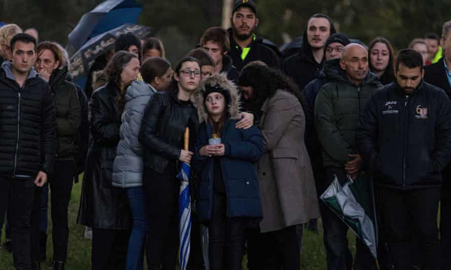 The vigil for Courtney Herron at Royal Park in Melbourne. Her death has put a renewed focus on housing and homelessness in Victoria