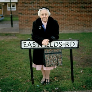 Mitcham - I met this woman waiting for her daughter to pick her up. She was incredibly shy, but after a little persuasion she agreed to have her picture taken. The way she was dressed and stood seemed to echo a London long gone