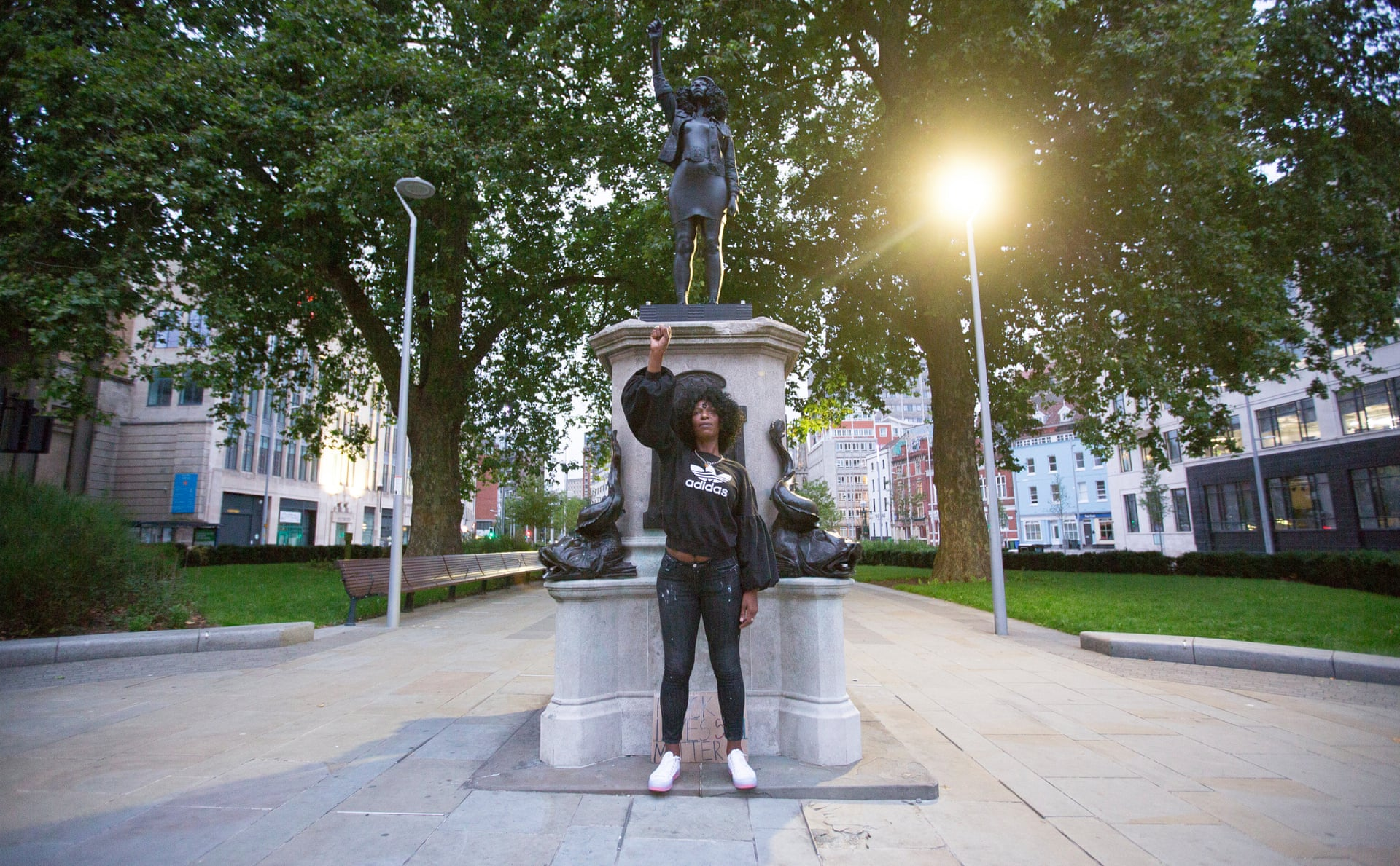 Statue of Black Lives Matter Protester Replaces Sculpture of Bristol Slave Trader Edward Colston