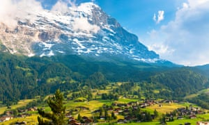 Switzerland … Where Pharrell is falling like a rockfall down the north face of the Eiger.
