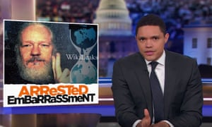 Trevor Noah: The most disturbing part of the story is not that Assange allowed [the cat] to shit all over the embassy. It's that every day, he dressed that poor thing up in a tie and collar.'