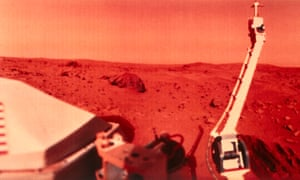 An image of the surface of Mars taken by Nasa's Viking 1 in 1976.
