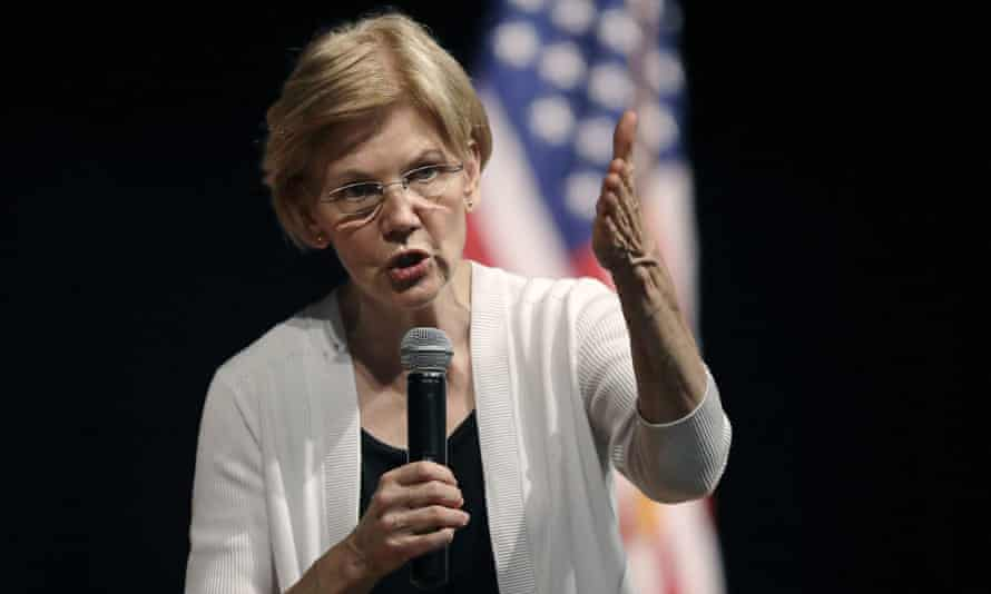 Elizabeth Warren, Democratic senator from Massachusetts. 'My background played no role in my getting hired anywhere,' she told the Boston Globe.