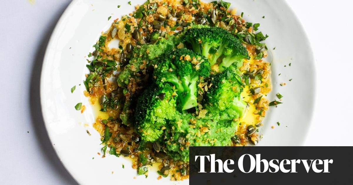 Nigel Slater's recipe for broccoli, pumpkin seeds and breadcrumbs