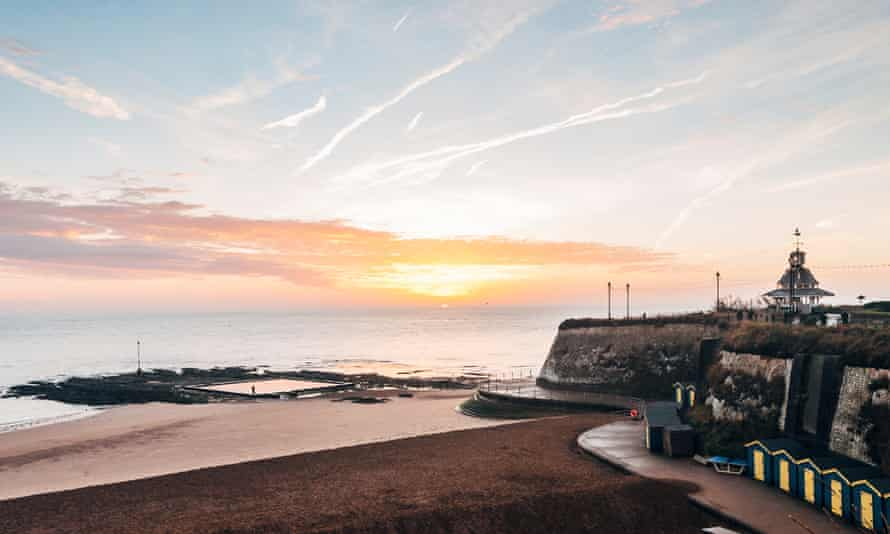 Viking Bay beach in Broadstairs, Kent - a popular Airbnb destination in pre-virus times.