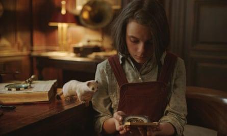 Dafne Keen as Lyra in His Dark Materials.