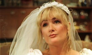Stroppy, outraged, sexually terrifying … Caroline Aherne as Denise Royle, in her wedding dress.