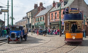 Historic vehicles at Beamish, the Living Museum of the North.