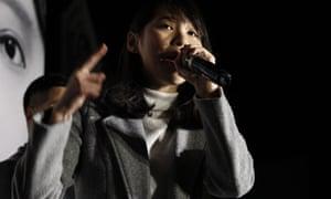 Agnes Chow, a pro-democracy activist