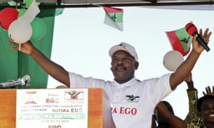 Pierre Nkurunziza on the campaign trail earlier this month.