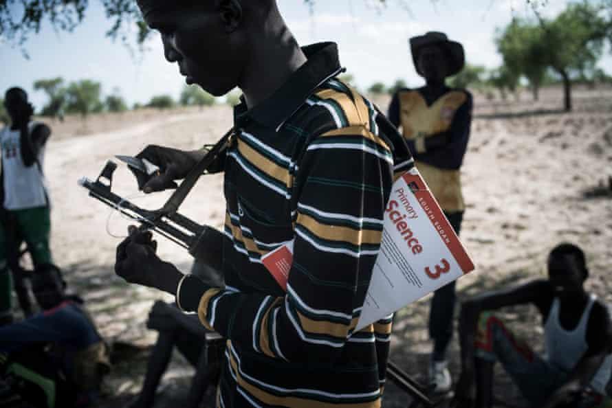 South Sudan rebel soldiers in Walgak region in 2017