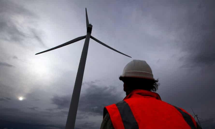 A windfarm near Lake George, north of Canberra.