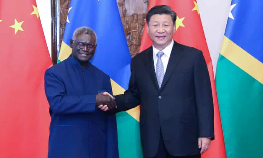 In the days after he announced the Solomon Islands would sever ties with Taiwan and establish them with China, the Solomons' prime minister, Manasseh Sogavare, was hosted with honours in Beijing.
